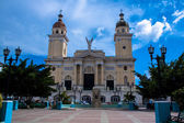 Central square in Santiago de Cuba, Cuba — Stock Photo