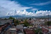 Clouds over Santiago de Cuba harbour — Stock Photo