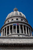 Havana Capitolio Dome with Cuban flag — Stock Photo