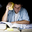 Young Man Studying at Night — Stock Photo