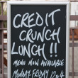 Stock Photo: Credit crunch lunch