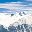Panoramic view of the swiss Alps — Stock Photo