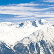 Stock Photo: Panoramic view of the swiss Alps