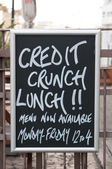 Credit crunch lunch — Stock Photo