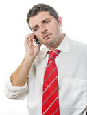 Young Attractive Man talking on the phone — Stock Photo