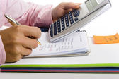 Calculating monthly costs — Stock Photo