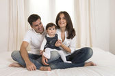 Young Couple and Baby girl — Stock Photo