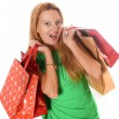 Young attractive woman going shopping — Stock Photo