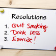 New year Resolutions Note — Stock Photo #37550061