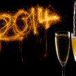 Champagne Glasses for celebrating new year — Stock Photo #37550693