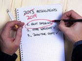 Last Years New Year Resolution list failed — Stock Photo