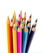 Set of drawing multi colour pencils with copy space  — Stok fotoğraf
