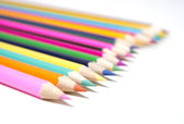 Set of drawing multi colour pencils with copy space  — Stock Photo