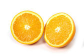 Halved fresh and healthy Orange Fruit stillife  — Stock Photo