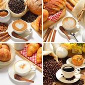 Coffee cup and pastries — Stock Photo