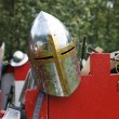 Medieval knights helmet — Stock Photo
