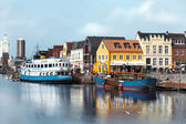 Husums beautiful port — Foto Stock