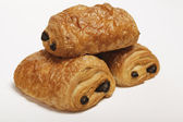 Three times chocolate croissant — Stock Photo
