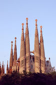 Sagrada Familia in Barcelona, by Gaudi — Stock Photo
