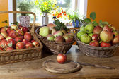Grazing baskets with apples — Foto Stock