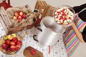 Boil apples — Stock Photo