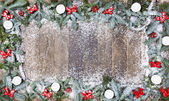 Wood background christmas snow — 图库照片