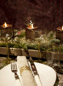Christmas table decorated — Stock Photo