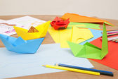 Fold colorful paper — Stock Photo