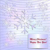 Paper SnowFlake Holiday Card — Stock Vector