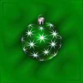 Vector Illustration of Christmas Decoration Ball — Stock Vector