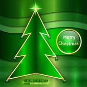 Vector Metallic Christmas Card — Vecteur