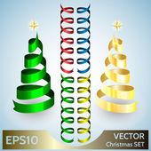 Noel tasarım öğeleri kümesi vektör — Stok Vektör