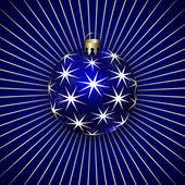 Vector Illustration of Christmas Decoration BalL — Stock Vector