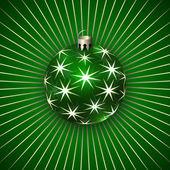 Vectorillustratie van kerstmis decoratie bal — Stockvector