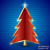Vector Illustration of Christmas Tree — Stock Vector