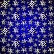 Vector Seamless Pattern Blue Background with Snowflakes — Stock Vector
