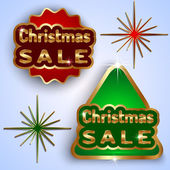 Vector Christmas Sale Badges — Stock Vector