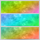 Vector set of multicolor banners with abstract geometry — Stock Vector