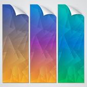 Vector abstract paper banner set — Stock Vector