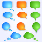 Vector colored speech bubbles — Stock Vector