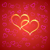 Vector red Saint Valentines background — Stock Vector
