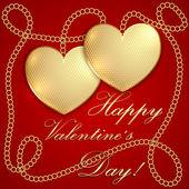 Vector Saint Valentine Greeting Card — Stock Vector