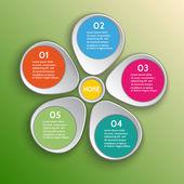 Vector infographic design elements — Stock Vector