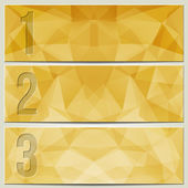 Vector infographic enumerated modern presentation banner set — Stock Vector
