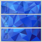 Vector infographic enumerated modern presentation blue banner set — Stock Vector