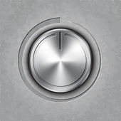 Vector round metal volume button — Vector de stock