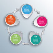 Vector infographic workflow design elements with arrows — Stock Vector