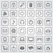 Vector set of flat icons for e-commerce web site — Stock Vector