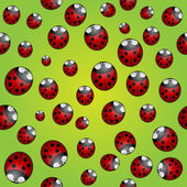 Vector abstract background seamless pattern with ladybugs — Stok Vektör