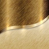 Vector golden texture background with curve line — 图库矢量图片